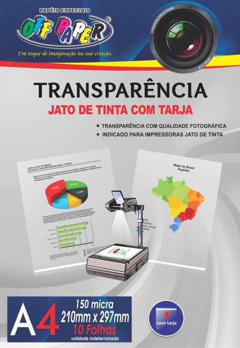 Transparência Acetato Fotolito A4 150 Micra Com 10 Folhas