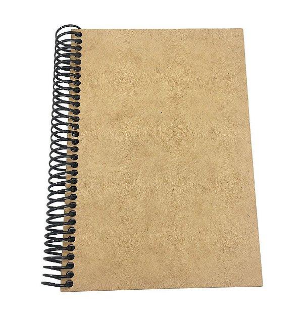 Caderno Capa MDF Lisa P 1/8 96 folhas 14x10 cm