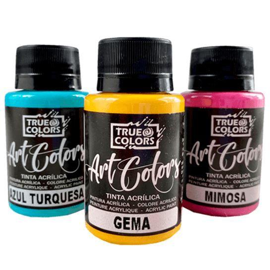Tinta Acrílica Art Colors True Colors Tons Quentes 60 ml