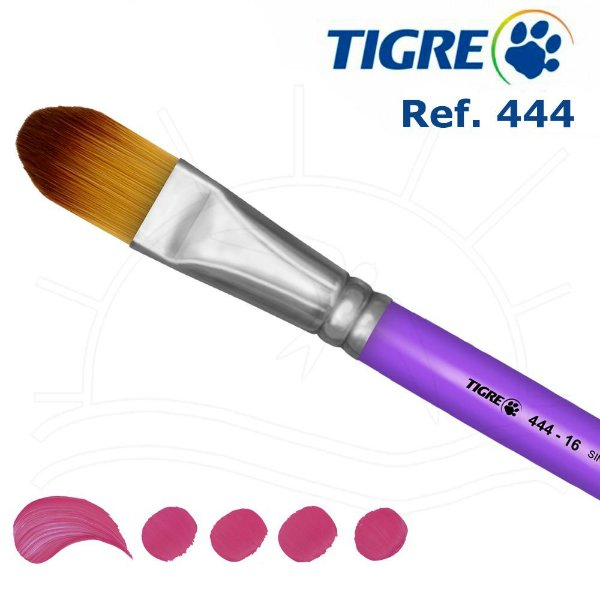 Pincel Filbert Língua De Gato - Ref. 444 - Tigre 02