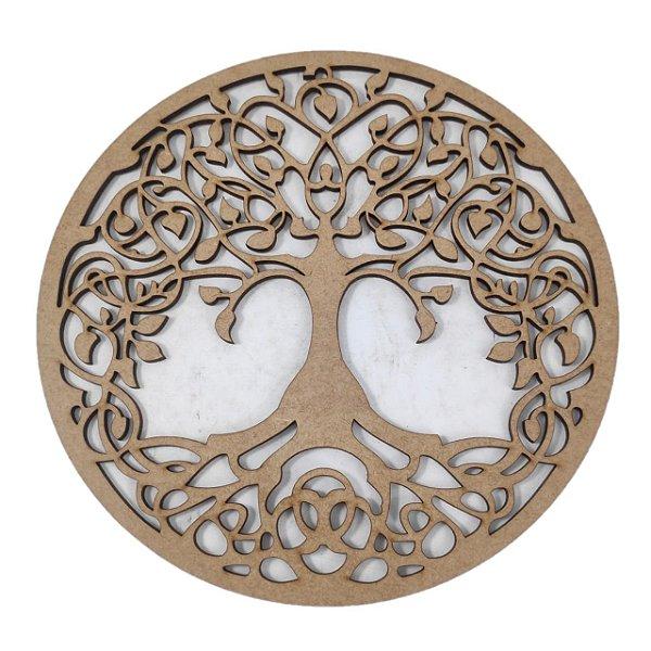 Aplique Laser MDF -  Mandala Árvore da vida - 15cm