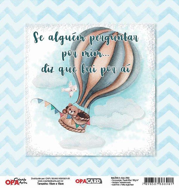 Papel Scrapbook 180g OPA 15x15 cm - OPACARD 2750 Balões 2