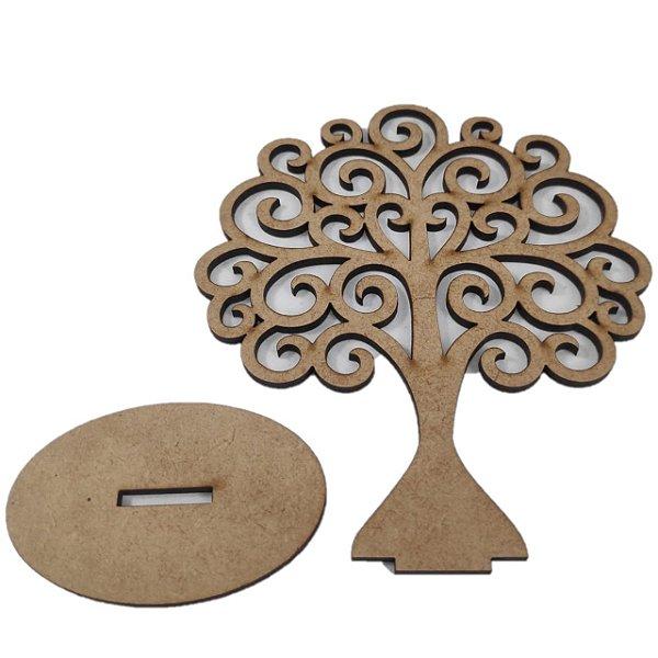 Aplique Laser MDF - Árvore Arabesco 14 cm
