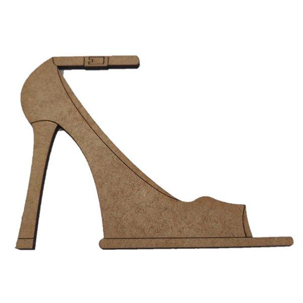 Aplique Laser MDF - Sapato feminino 10,5x9,5