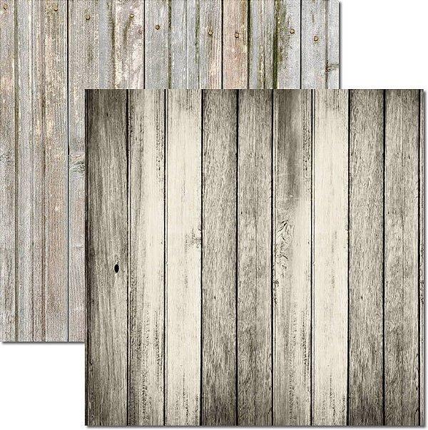 Papel Para Scrapbook Dupla Face 30,5x30,5 cm Arte Fácil - SC-510 - Textura Madeira 3