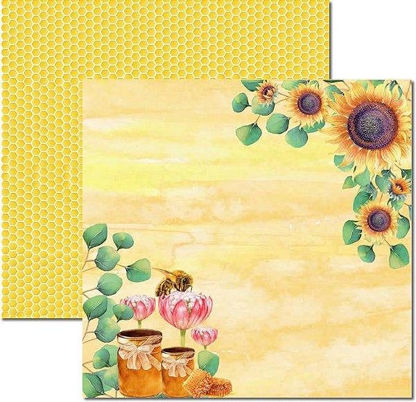 Papel Para Scrapbook Dupla Face 30,5x30,5 cm Arte Fácil - SC-519 - Honey Bee 1