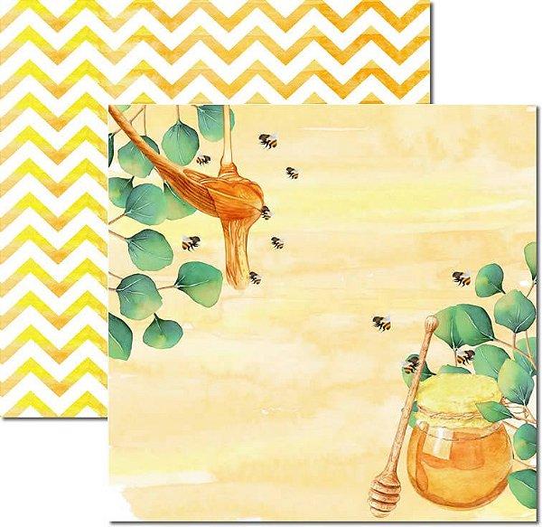 Papel Para Scrapbook Dupla Face 30,5x30,5 cm Arte Fácil - SC-522 - Honey Bee 4