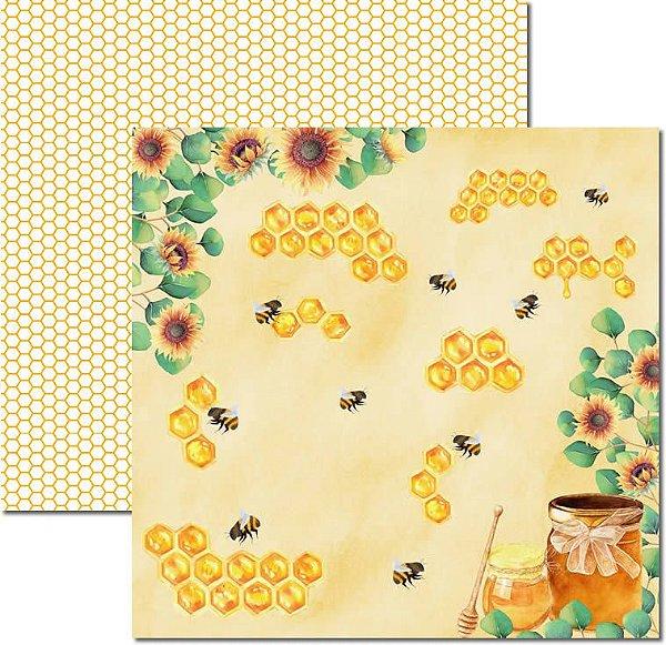 Papel Para Scrapbook Dupla Face 30,5x30,5 cm Arte Fácil - SC-523 - Honey Bee 5