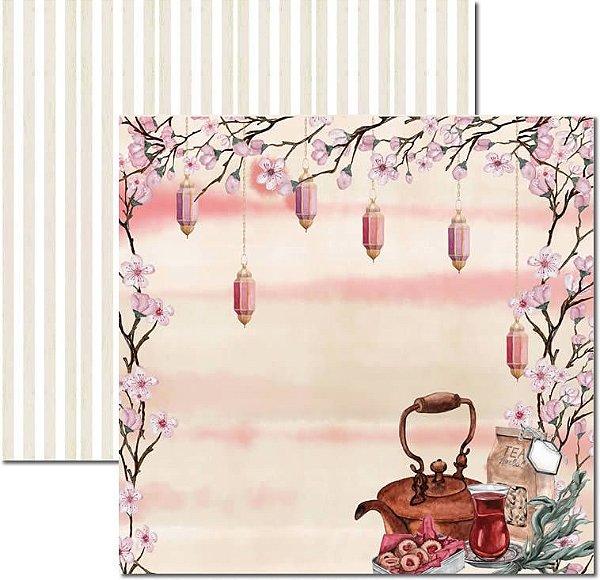 Papel Para Scrapbook Dupla Face 30,5x30,5 cm Arte Fácil - SC-528 - Chá 5