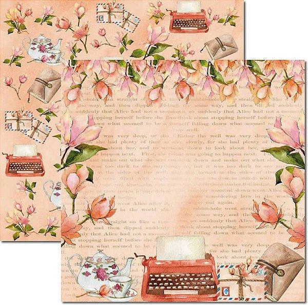 Papel Para Scrapbook Dupla Face 30,5x30,5 cm Arte Fácil - SC-559 - Letters 2