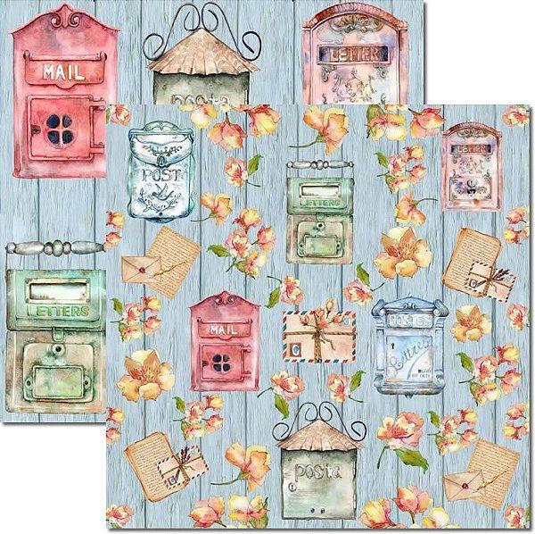 Papel Para Scrapbook Dupla Face 30,5x30,5 cm Arte Fácil - SC-562 - Letters 5