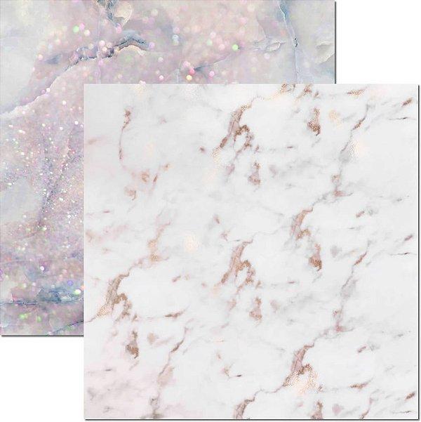 Papel Para Scrapbook Dupla Face 30,5x30,5 cm Arte Fácil - SC-582 - Textura-Marmore 2