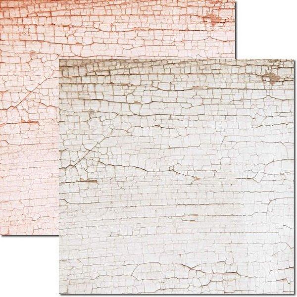 Papel Para Scrapbook Dupla Face 30,5x30,5 cm Arte Fácil - SC-583 - Textura-Craquelê