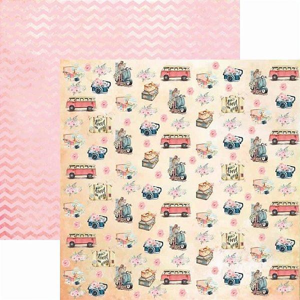 Papel Para Scrapbook Dupla Face 30,5x30,5 cm Arte Fácil - SC-410 - Pé na Estrada 3