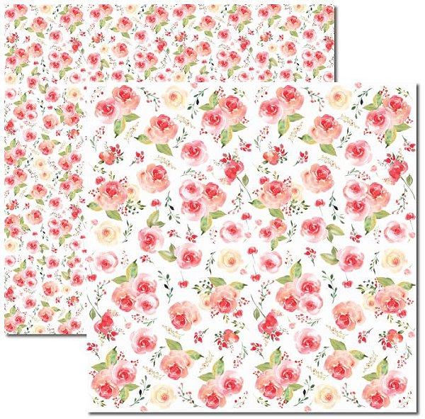 Papel Para Scrapbook Dupla Face 30,5x30,5 cm Arte Fácil - SC-394 - Aquarela 5