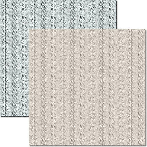 Papel Para Scrapbook Dupla Face 30,5x30,5 cm Arte Fácil - SC-505 - Textura - Lã