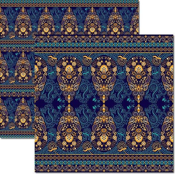 Papel Para Scrapbook Dupla Face 30,5x30,5 cm Arte Fácil - SC-500 - Indian 1