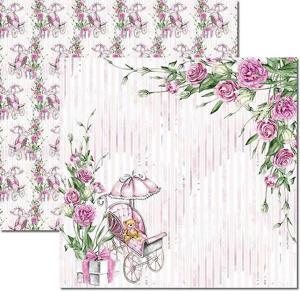 Papel Para Scrapbook Dupla Face 30,5x30,5 cm Arte Fácil - SC-496 - My Baby Girl 1