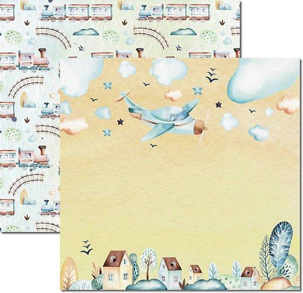 Papel Para Scrapbook Dupla Face 30,5x30,5 cm Arte Fácil - SC-493 - My Baby Boy 1