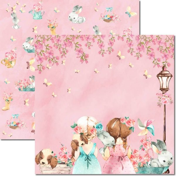 Papel Para Scrapbook Dupla Face 30,5x30,5 cm Arte Fácil - SC-490 - Sweet Girl 1
