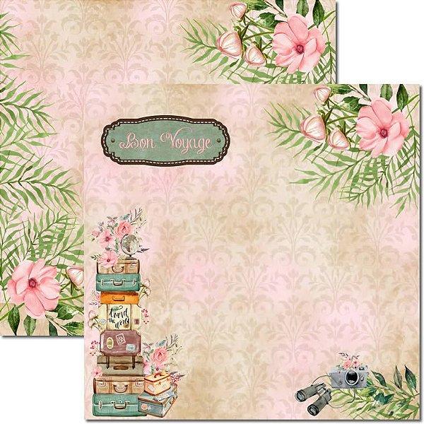 Papel Para Scrapbook Dupla Face 30,5x30,5 cm Arte Fácil - SC-488 - Pé na Estrada 6