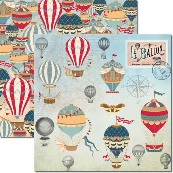 Papel Para Scrapbook Dupla Face 30,5x30,5 cm Arte Fácil - SC-483 - Le Ballon 1