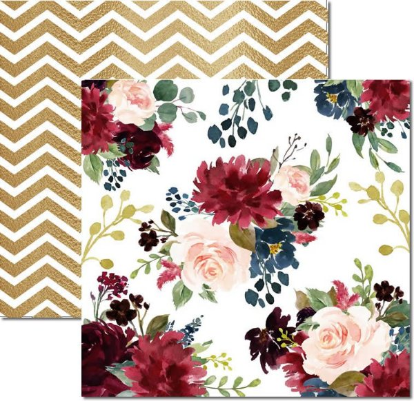 Papel Para Scrapbook Dupla Face 30,5x30,5 cm Arte Fácil - SC-482 - Floral 6