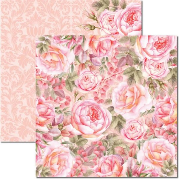 Papel Para Scrapbook Dupla Face 30,5x30,5 cm Arte Fácil - SC-471 - Rose e Mint 5