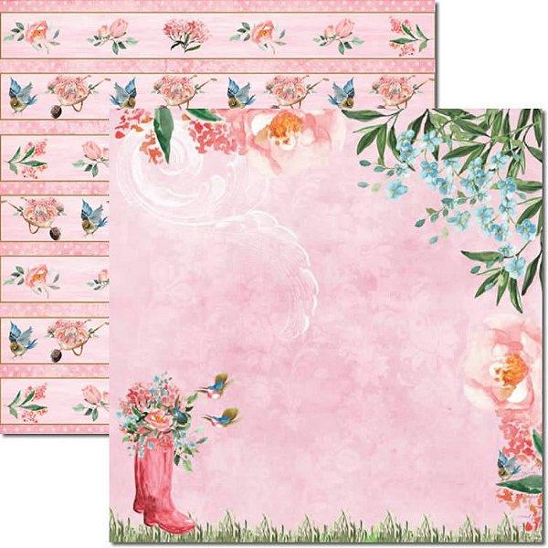 Papel Para Scrapbook Dupla Face 30,5x30,5 cm Arte Fácil - SC-458 - Le Jardin 1
