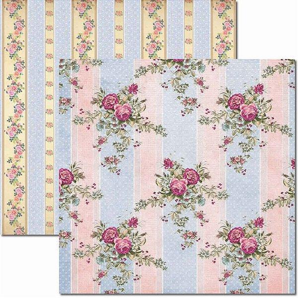 Papel Para Scrapbook Dupla Face 30,5x30,5 cm Arte Fácil - SC-453 - Bouquet 6