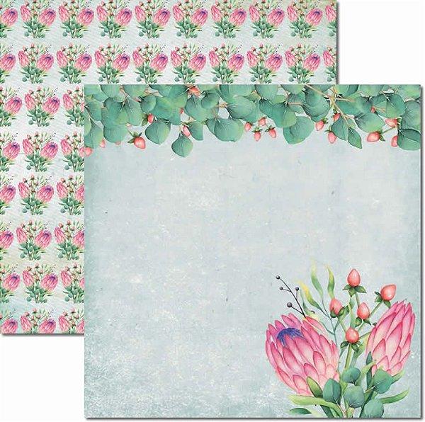 Papel Para Scrapbook Dupla Face 30,5x30,5 cm Arte Fácil - SC-451 - Verão Tropical 5