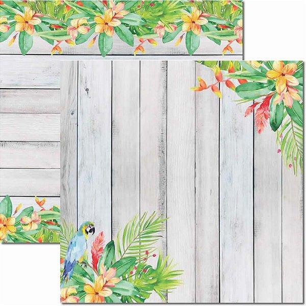 Papel Para Scrapbook Dupla Face 30,5x30,5 cm Arte Fácil - SC-450 - Verão Tropical 4
