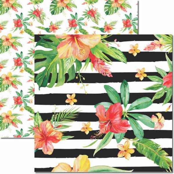 Papel Para Scrapbook Dupla Face 30,5x30,5 cm Arte Fácil - SC-448 - Verão Tropical 2