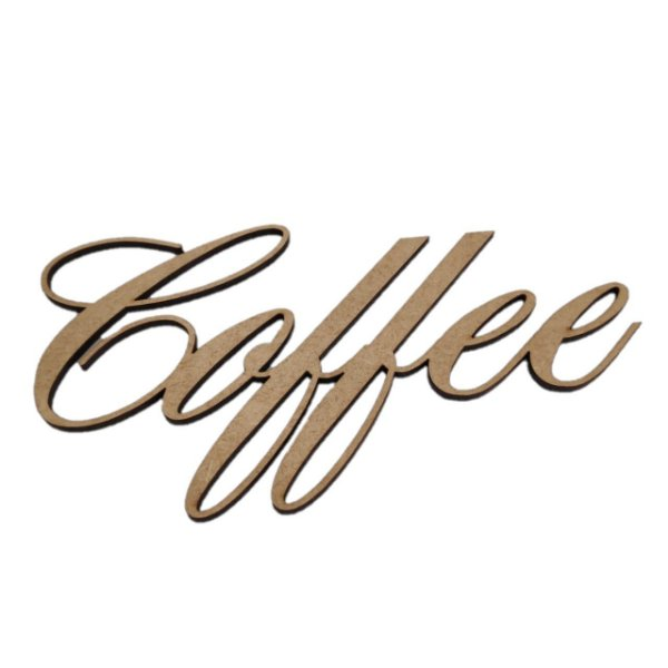 Aplique Laser MDF - Coffee 16,5cm
