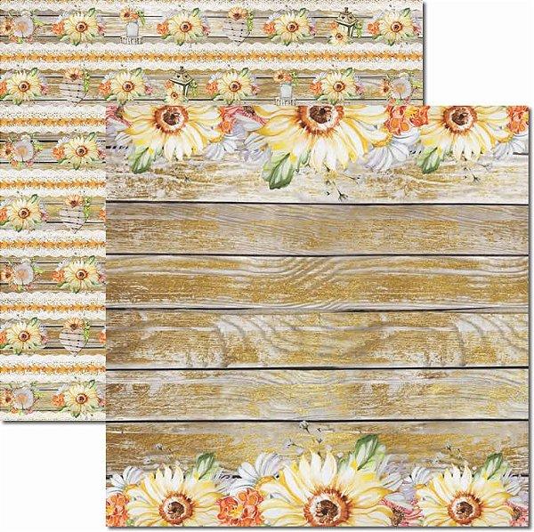 Papel Para Scrapbook Dupla Face 30,5x30,5 cm Arte Fácil - SC-437 - Outono 4