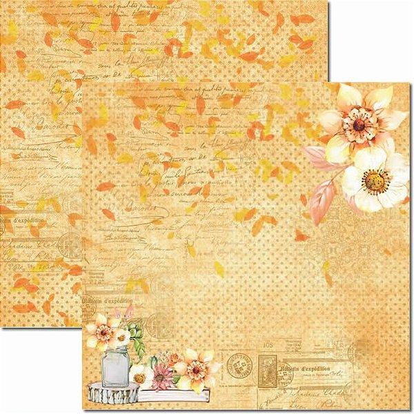 Papel Para Scrapbook Dupla Face 30,5x30,5 cm Arte Fácil - SC-435 - Outono 2