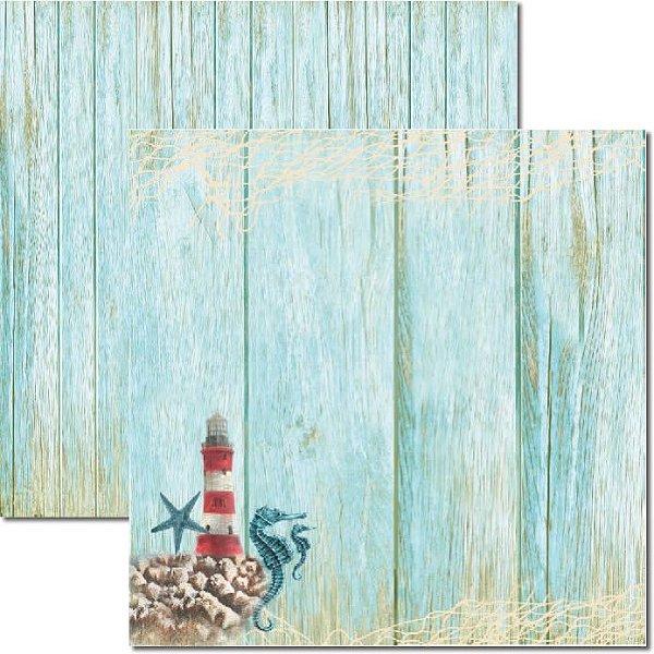 Papel Para Scrapbook Dupla Face 30,5x30,5 cm Arte Fácil - SC-295 - Beach 6