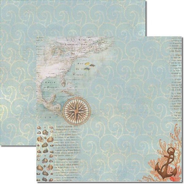 Papel Para Scrapbook Dupla Face 30,5x30,5 cm Arte Fácil - SC-291 - Beach 2