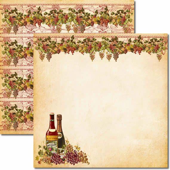 Papel Para Scrapbook Dupla Face 30,5x30,5 cm Arte Fácil - SC-286 - Vinho 2