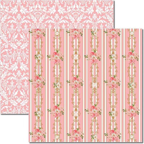 Papel Para Scrapbook Dupla Face 30,5x30,5 cm Arte Fácil - SC-278 - Shabby 4
