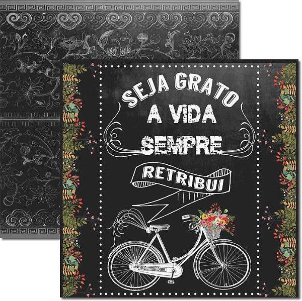 Papel Para Scrapbook Dupla Face 30,5x30,5 cm Arte Fácil - SC-273 - Chalkboard 2