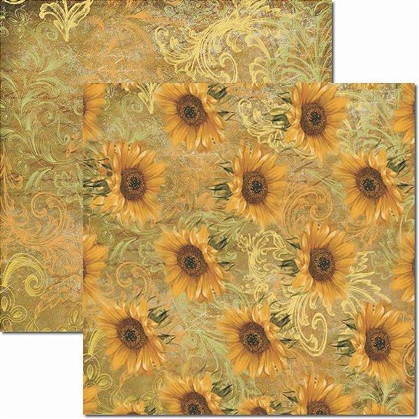 Papel Para Scrapbook Dupla Face 30,5x30,5 cm Arte Fácil - SC-372 - Girassol 5