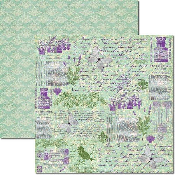 Papel Para Scrapbook Dupla Face 30,5x30,5 cm Arte Fácil - SC-363 - Alfazema 2