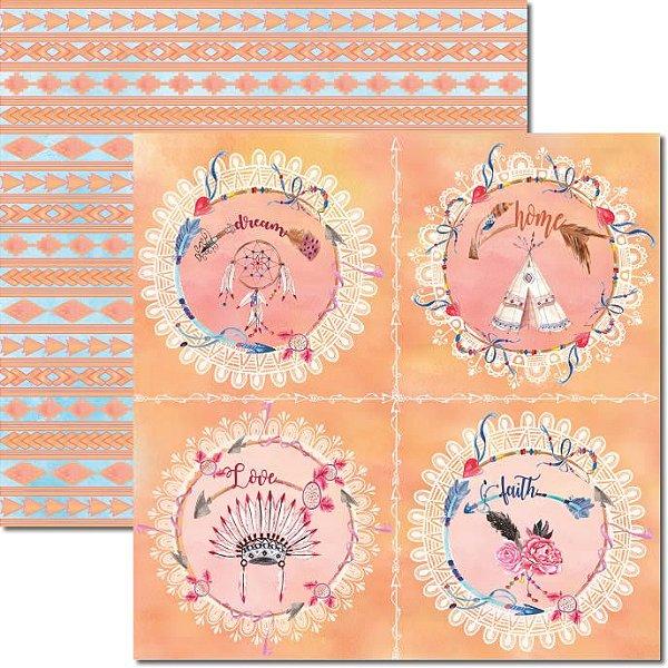 Papel Para Scrapbook Dupla Face 30,5x30,5 cm Arte Fácil - SC-356 - Tribal 2