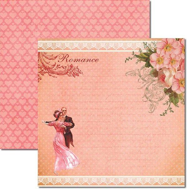 Papel Para Scrapbook Dupla Face 30,5x30,5 cm Arte Fácil - SC-324 Love is in the air