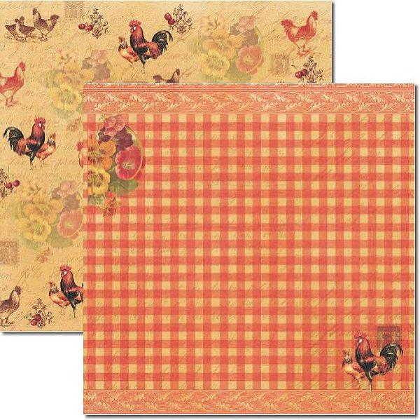 Papel Para Scrapbook Dupla Face 30,5x30,5 cm Arte Fácil - SC-188 Cozinha 1
