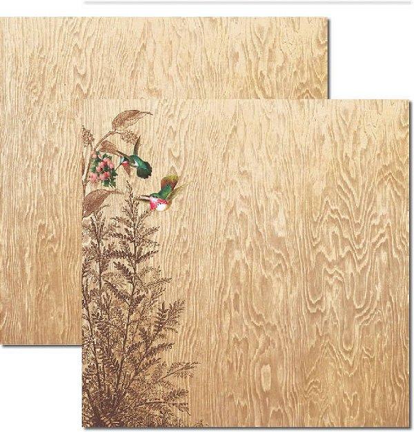 Papel Para Scrapbook Dupla Face 30,5x30,5 cm Arte Fácil - SC-179 Beija Flor
