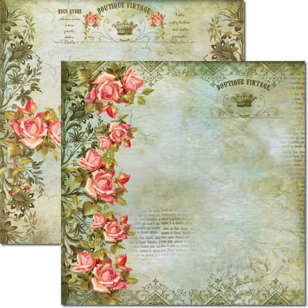 Papel Para Scrapbook Dupla Face 30,5x30,5 cm Arte Fácil - SC-168 Dama na Janela