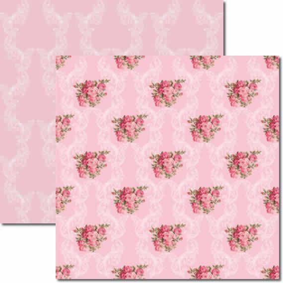 Papel Para Scrapbook Dupla Face 30,5x30,5 cm Arte Fácil - SC-135 Rosas 2
