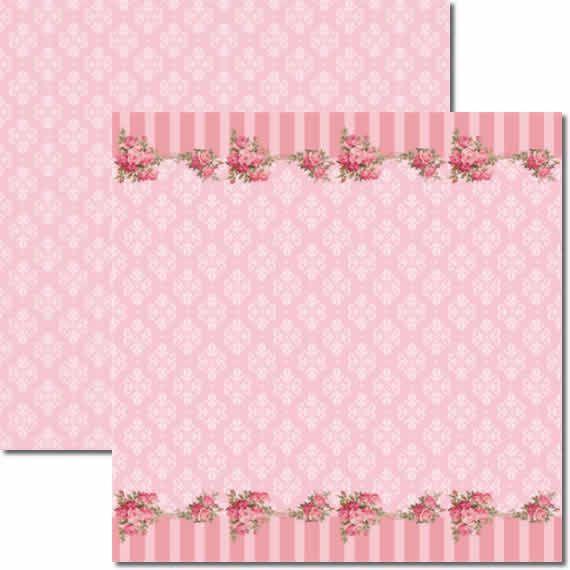 Papel Para Scrapbook Dupla Face 30,5x30,5 cm Arte Fácil - SC-134 Rosas 1